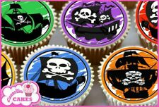 24 x PIRATE SHIPS EDIBLE CUPCAKE TOPPERS WAFER CAKE RICE PAPER 8142