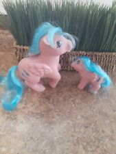My Little Pony Vintage G1 Firefly and Baby Firefly Pegasus