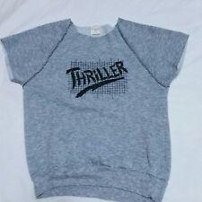 VTG Michael Jackson Thriller Sweatshirt 80s Tour Concert Rock Tee Large Youth