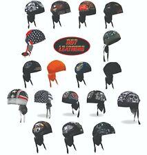 Biker Headwrap Skull Cap Hot Leathers Do-Rag Bandana Beanie Cap Hat