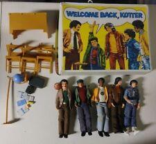 Vintage WELCOME BACK KOTTER Classroom Playset Figure Lot Vinnie Sweathogs Mattel
