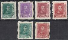 España 1938 Edifil 841/844A ** Serie 6 valores Spain (ref#17538)