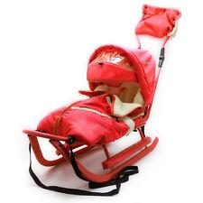 Schlitten Piccolino Komfort Rot Kinderschlitten Babyschlitten Fußsack Schieber