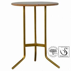 Caramel Tea Table with Gold Base