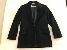 MAX MARA Black SINGLE BREASTED One Button PURE CASHMERE Blazer JACKET Sz36/US-4