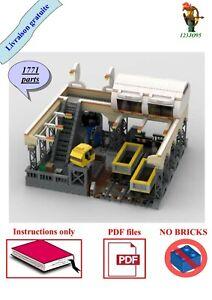 95BRICKS LEGO gare train wagon transport mocs instructions ville batiment town