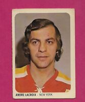 RARE 1973-74 WHA QUAKER OATES RAIDERS ANDRE LACROIX MINI CARD (INV#3766)