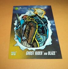 Ghost Rider and Blaze # 79 1992 Marvel Universe Series 3 Base Impel Trading Card
