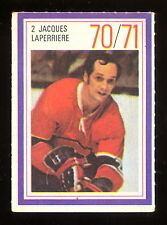 1970-71 ESSO POWER PLAYERS NHL #2 JACQUES LAPERRIERE EX+ CANADIENS UNUSED STAMP