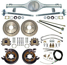 CURRIE 66-77 BRONCO REAR END & DRILLED DISC BRAKES,LINES,E-BRAKE CABLES,AXLES,++