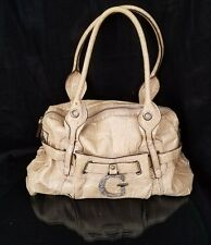 GUESS handbag GOLD vegan Faux SNAKE leather Large Hobo PURSE G RhInestones EUC