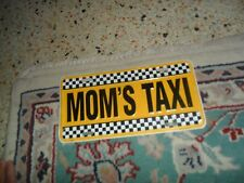 Vintage MOM'S TAXI Metal License Plate Wall Hanger !
