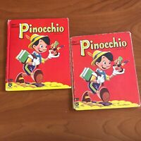 Vintage Walt Disney's Pinocchio Top Top Tales (Whitman, 1961) Lot of 2 Books