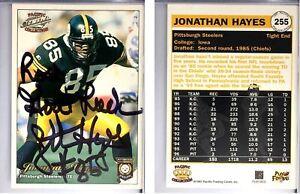 Jonathan Hayes Signed 1997 Pacific Philadelphia #255 Card Pittsburgh Steelers
