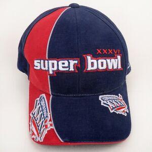 NEW Super Bowl XXXVI 36 Reebok 2002 NFL Licensed Hat Patriots Rams New Orleans