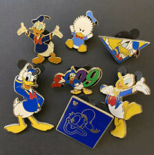Vintage Donald Duck 7 Pin Set Lot Disneyland Wdw Mm Gang Mini Pins Hidden Mickey