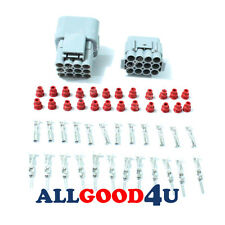 2 sets Car Waterproof 12 Pin Electrical Wire Connector Plug AWG Car Motorcycle