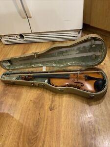 Full Karl Hofner Violin Bubenreuth 1961? Germany w/ Bow &  Hard Case