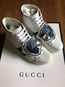 Men's GUCCI ACE WOLF Sneakers Size US 9