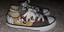 Converse All Star LOONEY TUNES Gray Canvas Lace Up Unisex Shoes Youth Size 12