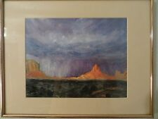 Chet Bittner Signed Print of storm at Monument Valley.