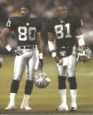 JERRY RICE & TIM BROWN 8X10 PHOTO OAKLAND RAIDERS PICTURE