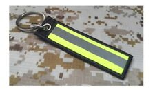 MOTORCYCLE BIKER RACING SECURITY SAFETY REFLECTIVE TAG KEYCHAIN  9.5 X 2.5 CM