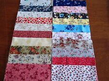 40 x 5' CHARM SQUARES 2 X20 Dainty Flowers 100% Cotton Fabric Sewing Material N7