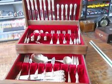 Northumbria Sterling Normandy Rose Flatware 71 PC SET w/ Chest Plus