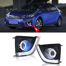For Toyota Corolla 2014-16 COB Angel Projector Lens+Daytime Running Light Lamp