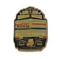 Amtrak EMD F40PH Locomotive Engine Train Brass Enamel Lapel Pin Railroad Railway