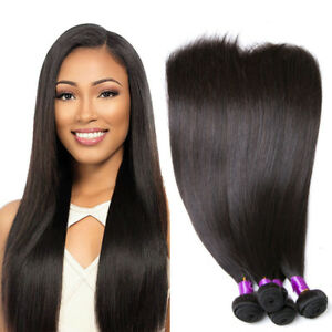 Malaysian Hair Straight Weave 3 Bundles 100% Unprocessed Human Hair Extensions