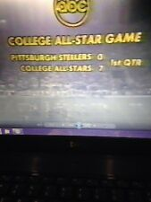 1975 Pittsburgh Steelers vs College All Stars dvd Walter Payton