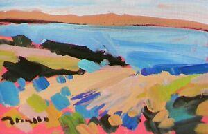 JOSE TRUJILLO - Acrylic Painting Modernist Impressionism Abstract Scene Seascape