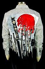 Robert Graham Sword Fight NWT $248 Embroidered Katana Sports Shirt XL