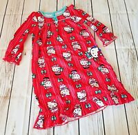 Hello Kitty Girl's Christmas Flannel Granny Nightgown Pajamas Size 2T