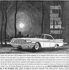 Old Print. 1960 DeSoto Adventurer Four-Door Hardtop Auto Advertisement