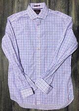 Marks & Spencer Sartorial Dress Shirt Slim Fit Sz 16 1/2 42 Plaid 214.278