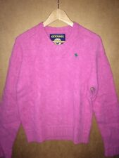 NWT Abercrombie & Fitch Men's V-neck Cable knit Sweater Pink