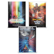 STAR TREK: THE MOTION PICTURE, WRATH OF KHAN & SEARCH FOR SPOCK silver posters