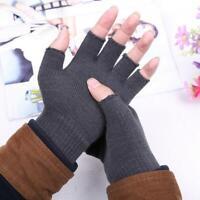 unisexe chaud tricoter solide les gants mitten la moitié de doigt doigt