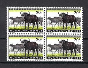 Ruanda Urundi 1959 Sc# 138 Buffalo  Bubalus block 4 MNH