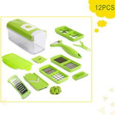 12Super Slicer Plus Vegetable Fruit Peeler Dicer Cutter Chopper Nicer Grater Hot