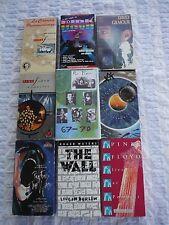 Huge Lot of 9 PINK FLOYD & DAVID GILMOUR Video VHS. Some RARE. Concerts-Guitar