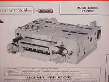 1960 BUICK ELECTRA 225 LESABRE INVICTA CONVERTIBLE AM RADIO SERVICE MANUAL 2