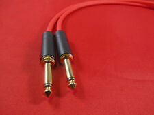 Canare GS6, GS-6 1/4 TS to TS Audio Cable 3 Ft, RED.