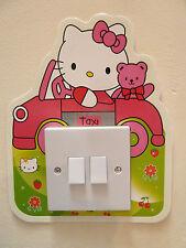 HELLO KITTY SWITCH  WALL STICKER NURSERY/KIDS/GIRLS/BOYS ROOM