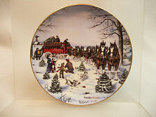 """Budweiser Collector Plate """"The Season's Best"""" with COA"""