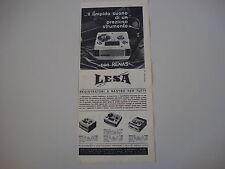 advertising Pubblicità 1964 REGISTRATORE LESA RENAS