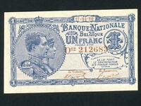 Belgium:P-92,1 Franc,1920 * King Albert * UNC *